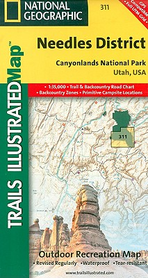 National Geographic Trails Illustrated Map Canyonlands - Needles District By National Geographic Maps